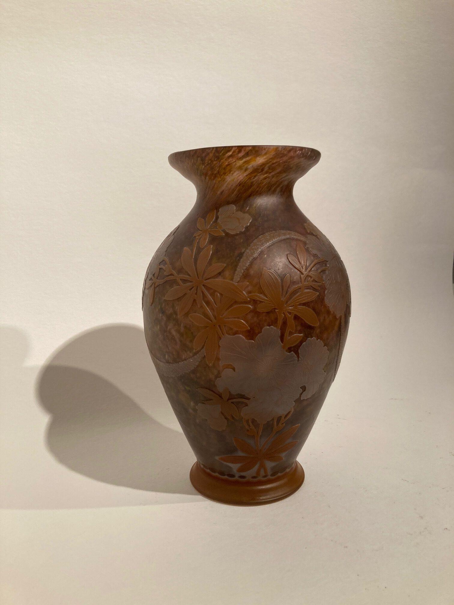 Vase von Heinrich Wollman für Orrefors, Schweden um 1915