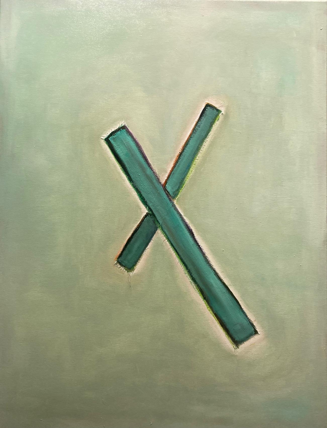 Silent Sign (4), Öl auf Leinwand, 80 x 60 cm, 2020